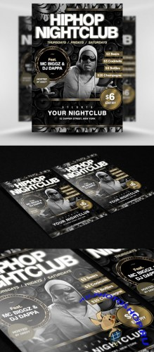 Hip Hop Nightclub Party Flyer/Poster PSD Template