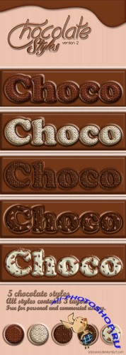 Chocolate Photoshop Styles #2