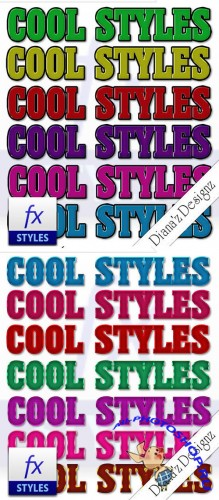 Color Text Photoshop Styles #2