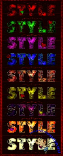 Color Text Photoshop Styles #1