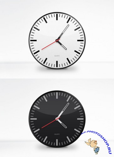 MediaLoot - Clock Face Vector PSD Template