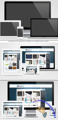 MediaLoot - Responsive Design Mock-up Pack