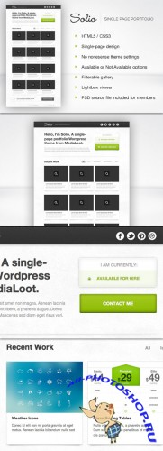 MediaLoot - Solio - Wordpress Theme