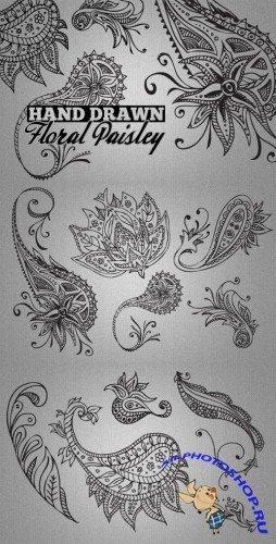 WeGraphics - Hand Drawn Paisley Patterns Vol2