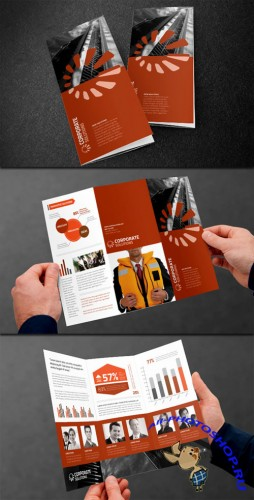 WeGraphics - Tri-Fold Corporate Brochure Template
