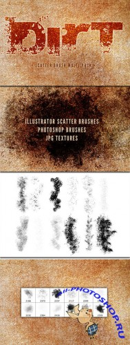 WeGraphics - Dirt Multi-Pack – Scatter Brushes and Textures
