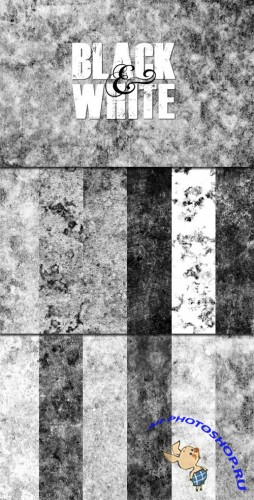 WeGraphics - Black and White Grunge Texture Pack