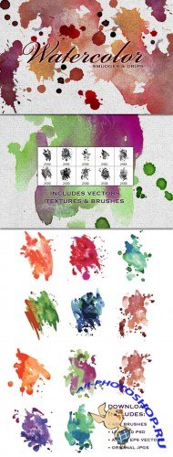 WeGraphics - Watercolor Smudges – Vectors, Textures and Brushes