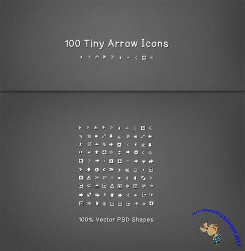 WeGraphics - 100 Tiny Vector Arrow Icons