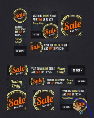 WeGraphics - Sale Ads – Web Banner PSD Kit