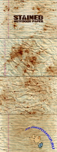 WeGraphics - Stained Notebook Paper Textures
