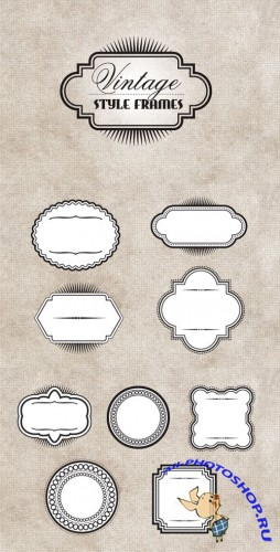WeGraphics - Vintage Style Vector Frames