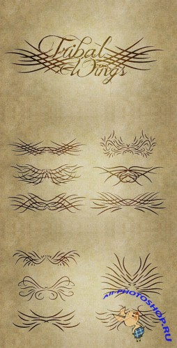WeGraphics - Tribal Wings Vector Pack