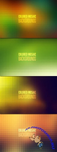 WeGraphics - Colored Mosaic Backgrounds