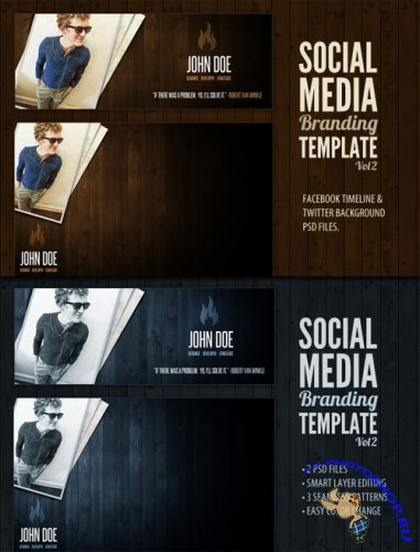 WeGraphics - Social Media Branding Kit Vol 2