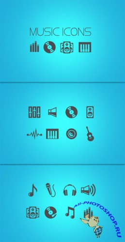 WeGraphics - Vector Music Icon Pack