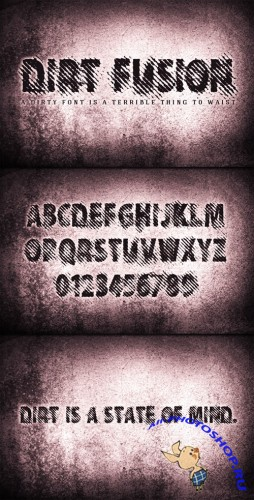 WeGraphics - Dirt Fusion – A Gritty Halftone Font Face