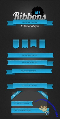 WeGraphics - 12 Useful Web Ribbons and Banners
