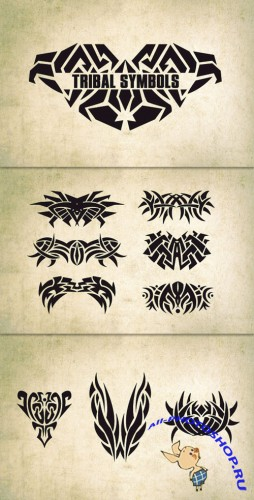 WeGraphics - 10 Vector Tribal Symbols