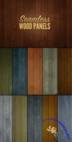 WeGraphics - 10 Seamless Wood Panels