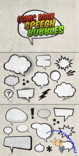 WeGraphics - Vector Comic Book Speech Bubbles