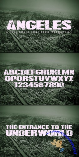 WeGraphics - Angeles: A Urban Style Font Face