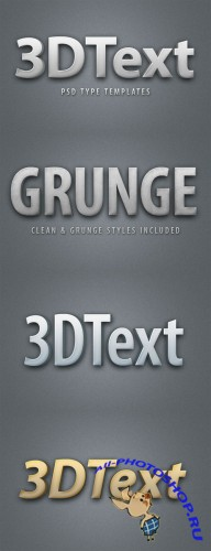 WeGraphics - 3D Text Style Template
