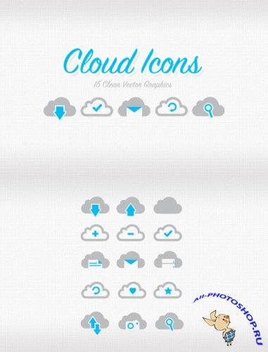 WeGraphics - Vector Cloud Icon Set