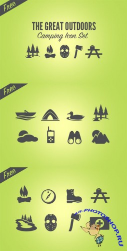 WeGraphics - Camping Icon Set