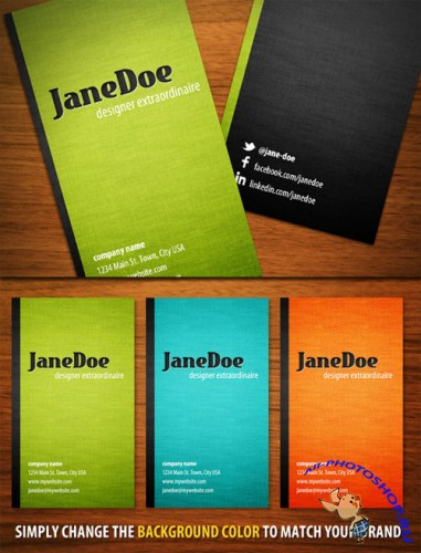 WeGraphics - Book Cover Business Card Template