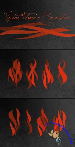 WeGraphics - Vector Flame Brushes