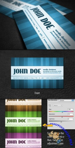 WeGraphics - Vintage Style Business Card Template