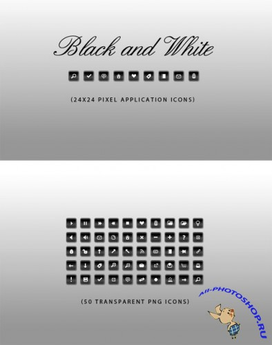 WeGraphics - 50 Black and White Application Icons