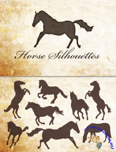 WeGraphics - Vector Horse Silhouettes