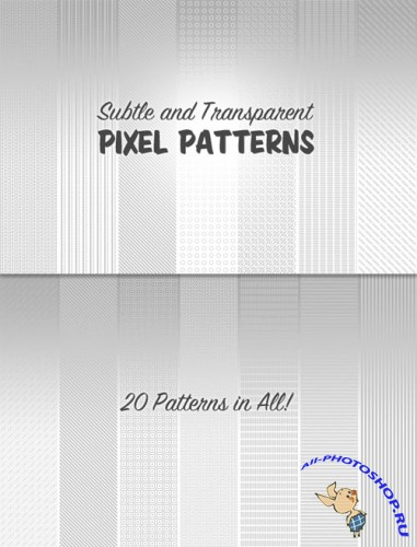 WeGraphics - Subtle Transparent Pixel Patterns