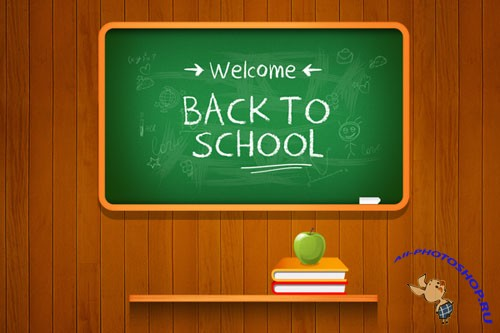 Back to school Vector Background PSD Template