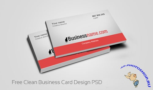 Clean Business Card Design PSD Template