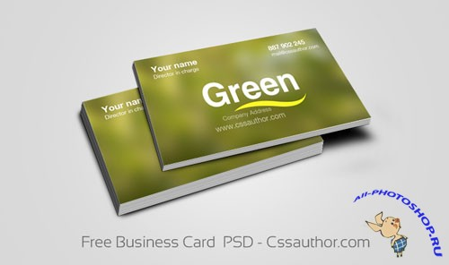 Business Card PSD Template #2