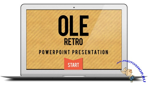 Retro Powerpoint PSD Template