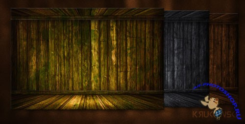 Wooden Stage PSD Backgrounds