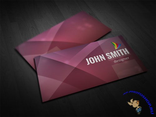 Purple Business Card PSD Template
