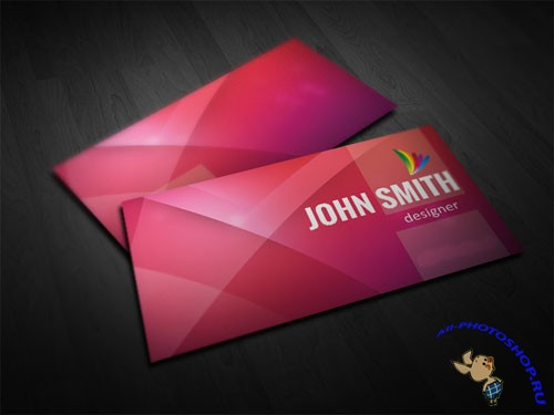 Red Business Card PSD Template