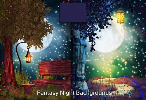 Fantasy Night Backgrounds