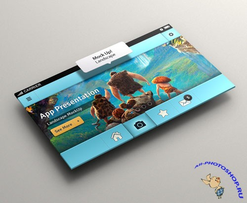 Pixeden - Perspective App Screen Mock-Up 2