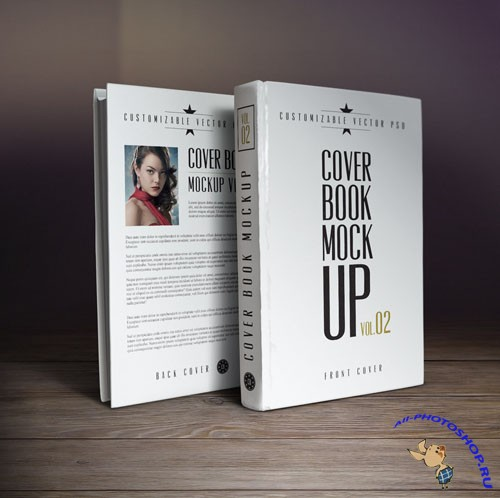 Pixeden - Psd Book Cover Mockup Template 2