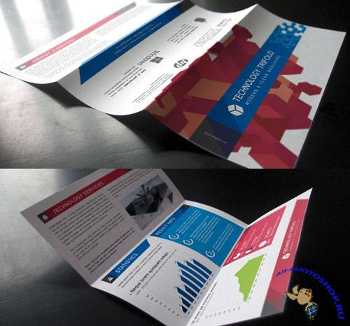 Pixeden - Technology Tri Fold Brochure