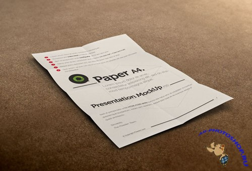 Pixeden - Psd A4 Paper Mock-Up Presentation