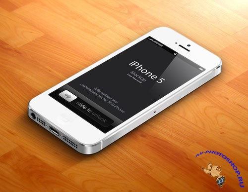 Pixeden - 3D iPhone 5 Psd Vector Mockup v2