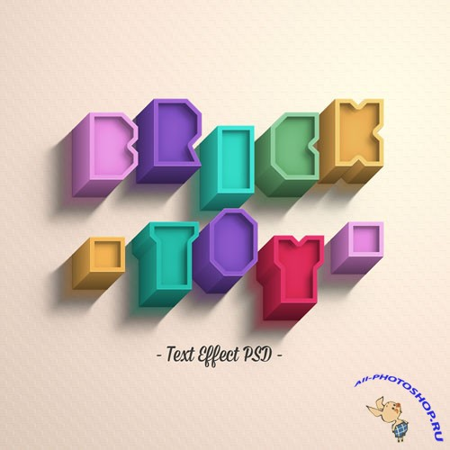 Pixeden - Psd Brick Toy Text Effect