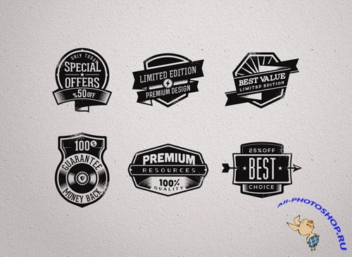 Pixeden - Promo Vector Retro Badges Vintage